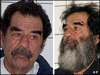 Saddam Hussein - before and after