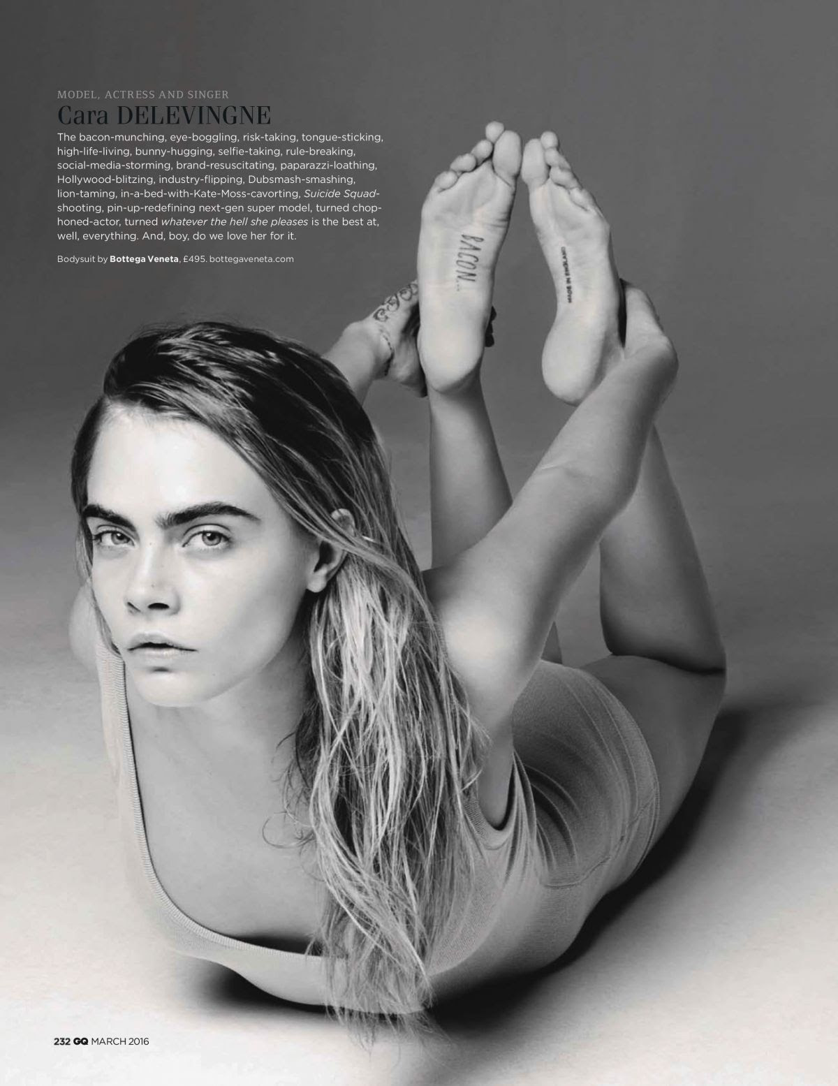 CARA DELEVINGNE in GQ Magazine, March 2016 Issue