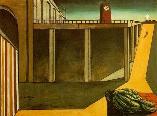 Gare Montparnasse (The Melancholy of Departure) - Giorgio de Chirico