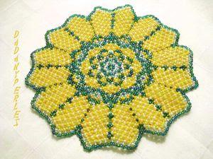patron fleur gratuit  - pattern flower free