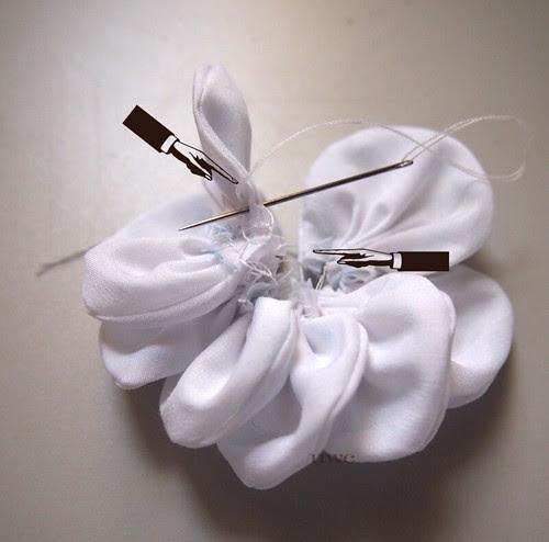 Fabric Flower Tutorial Step 6