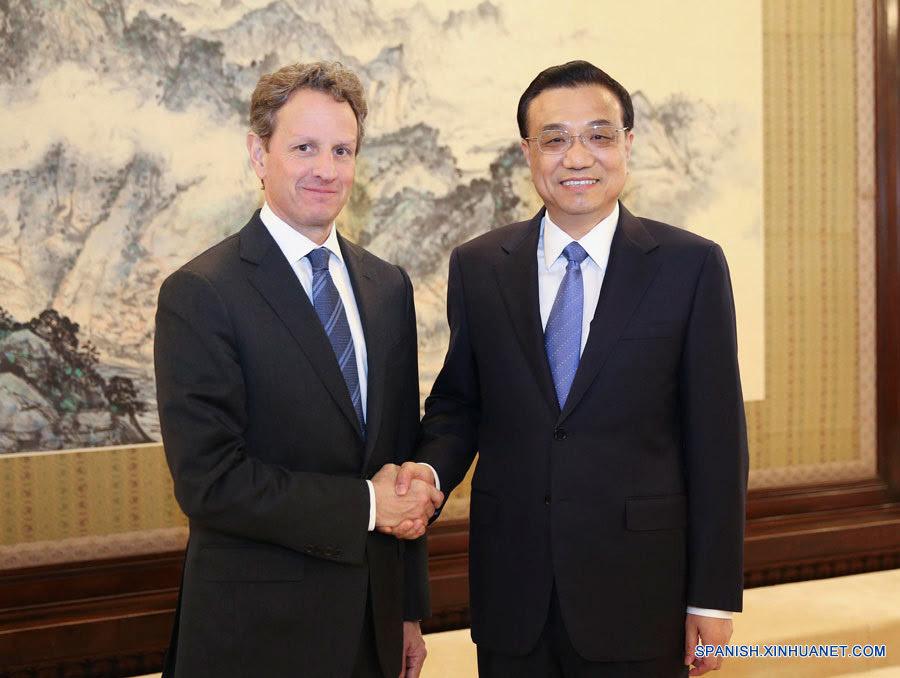 PM chino se reúne con ex secretario de Tesoro de EEUU