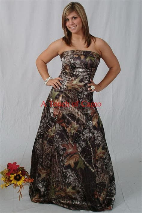 Camouflage bridesmaid dresses