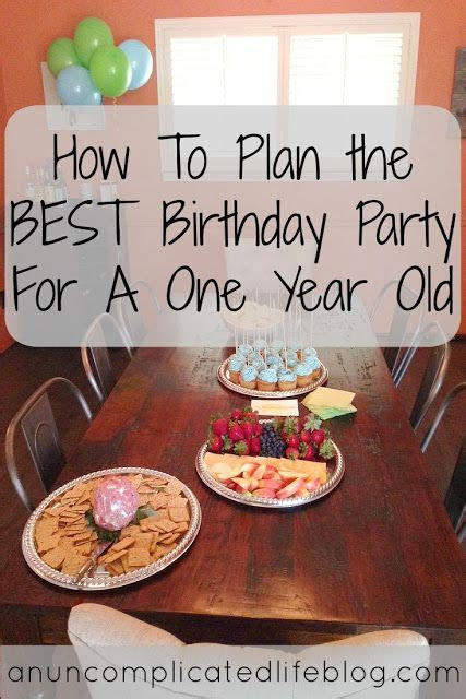 plan   birthday party    year  fun