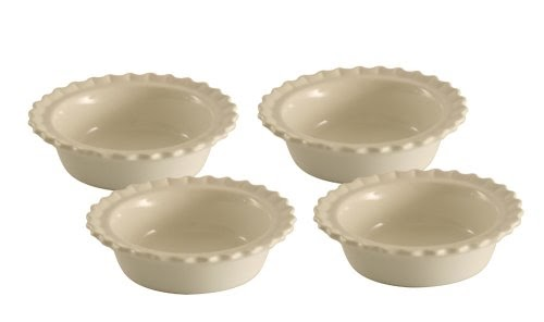Mini Pie Pans Chantal Ceramic 5 Inch Pie Dish White