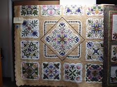appliqued quilt