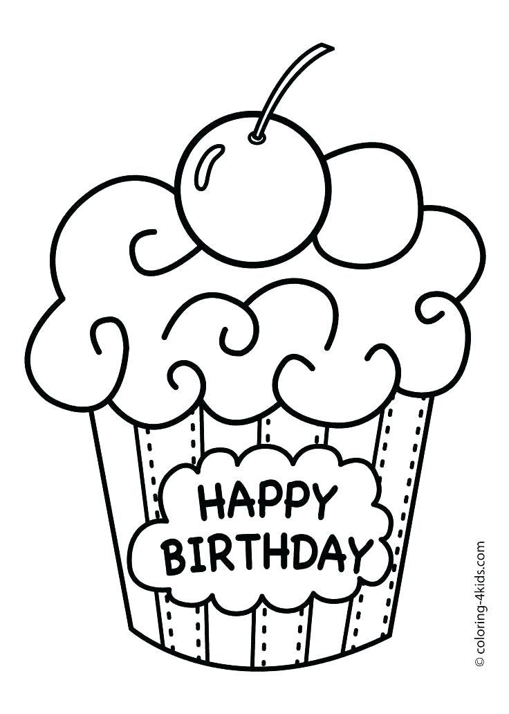 happy birthday torte zum ausmalen  malvorlagen