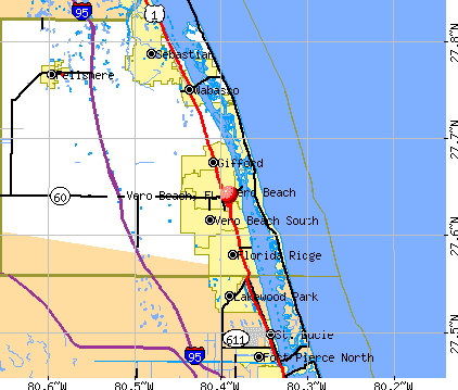 Map Of Florida Showing Vero Beach.Map Of Florida Vero Beach Florida Map 2018
