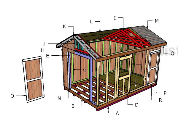 10x16 Shed Plans Howtospecialist How To Build Step By Step Diy