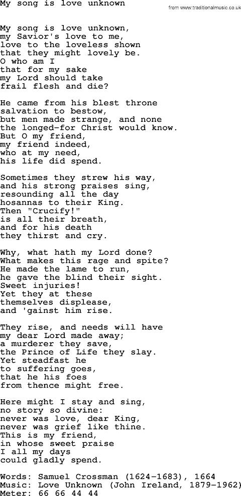 This Is My Song Hymn Lyrics