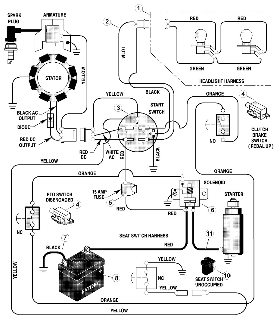 917 25751 ignition switch diagram? - MyTractorForum.com ...