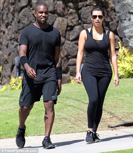 Famous: Kim, pictured with Kanye West, last week, now has a growing number of celebrity critics