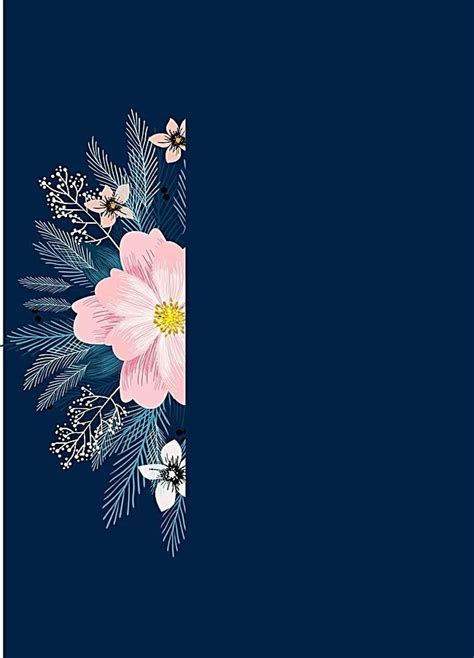 Watercolor Flower Floral Blue background in 2019   Mukah