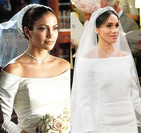 Was Meghan's bridal look inspired by Jennifer Lopez