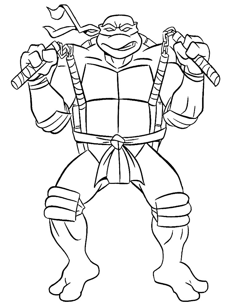 Dibujos Para Colorear Tortugas Ninja Heroes Para Colorear