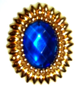 "LC133 Blue Jewel Oval Beaded Applique 2""-sequin,beaded,applique,sequined,beads,sequins,blue"