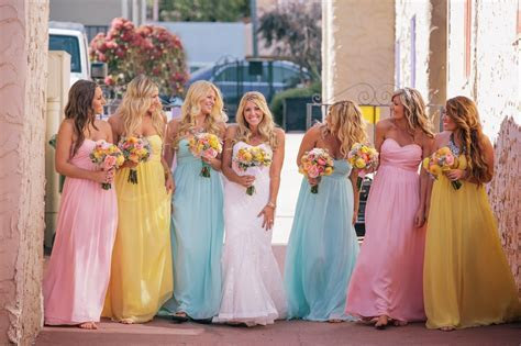 Bridesmaids dresses you can rent! Order a free swatch at