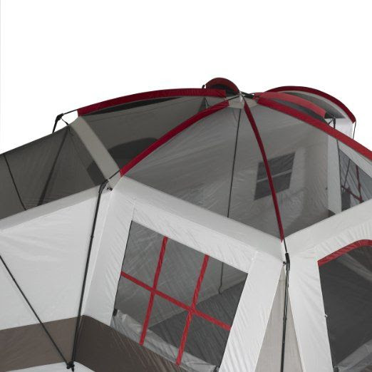 Amazon.com: Wenzel Montreaux 10 Person Family Dome Tent Grey/White