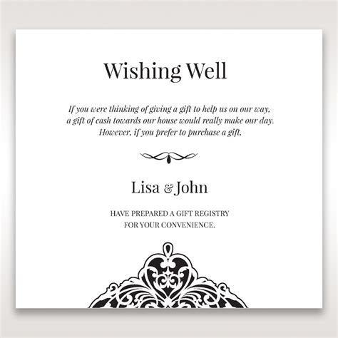 Elegant Crystal Black Lasercut Pocket Wishing Well Card