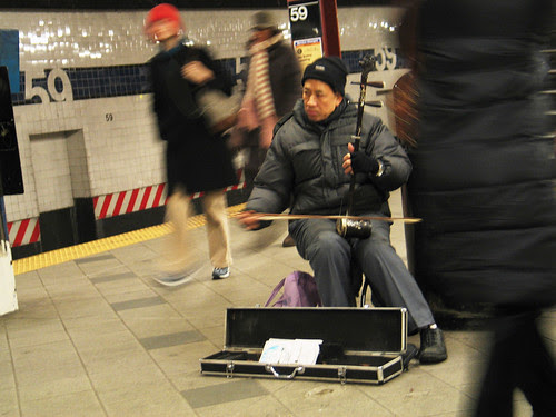 Erhu Player, NYC