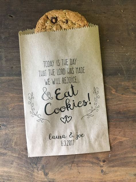 Wedding Favor Bags, Christian Wedding Cookie Bags, Candy
