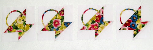 Start with four quilt blocks