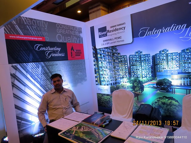 0 Stamp Duty & Registration Charges! www.ishwarparmargroup.com - Ishwar Parmar Group's River Residency Chikahali PCMC - Pune Property Exhibition, Times Property Expo 'Investment Festival 2013', 23rd & 24th November 2013