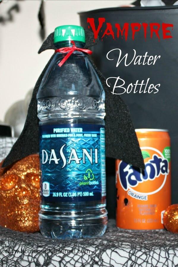 Vampire Water Bottles with Dasani