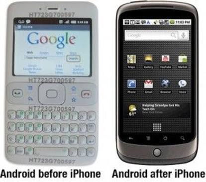 I documenti: prima dell'iPhone Android non prevedeva il touch screen