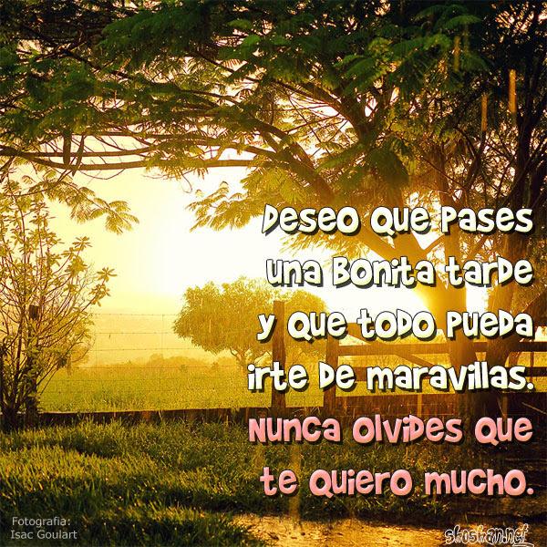 Imagen Gratis De Amistad Con Saludos De Buenas Tardes Deseo Que