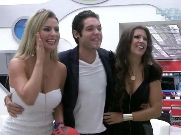 Fernanda, Nasser e Andressa (Foto: Reprodução/ BBB 13)