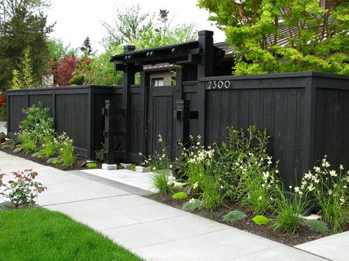 front yard fence privacy fence dark fence stock hill landscapes inc_5529