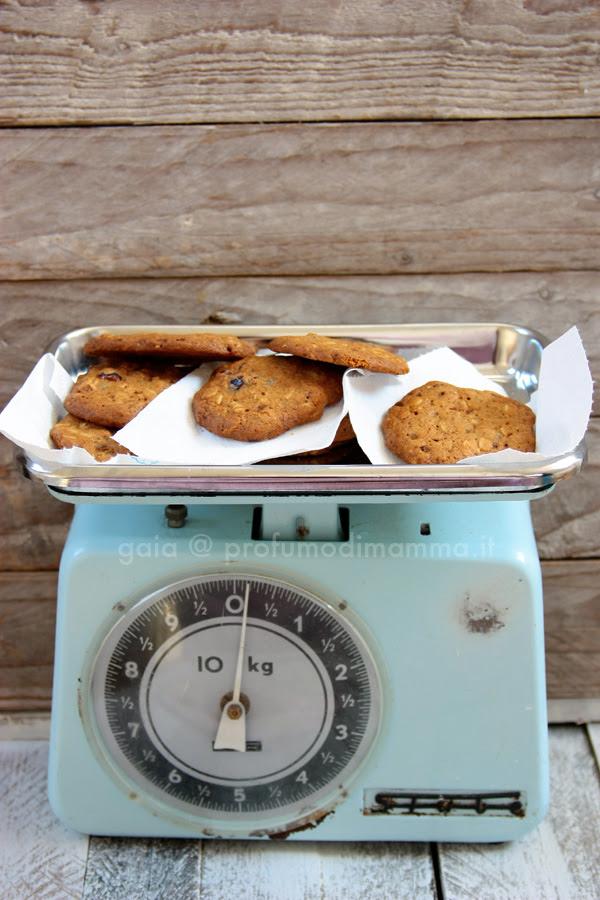 Cookies avena e frutta secca