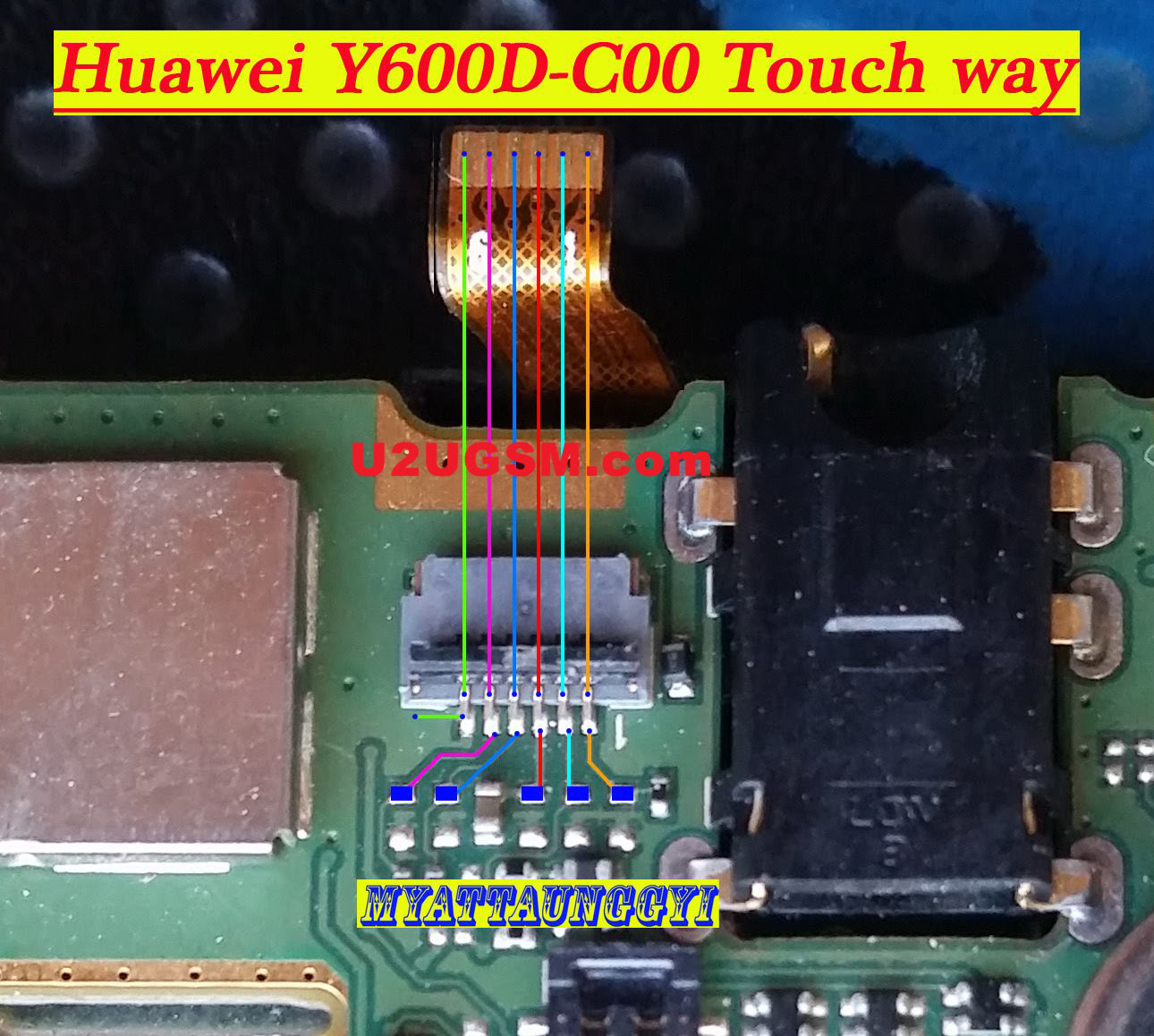 Huawei Ascend Y600 touch screen not working problem solution jumpers