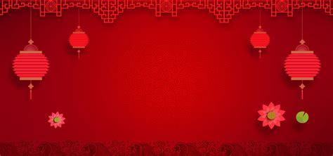 Chinese New Year Festive Red Chinese Style Poster Banner