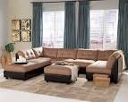 Claude Brown Microfiber Sectional Set | Sectionals