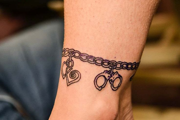 New Tattoo Ankle Bracelet With Charm Designs Tattoo