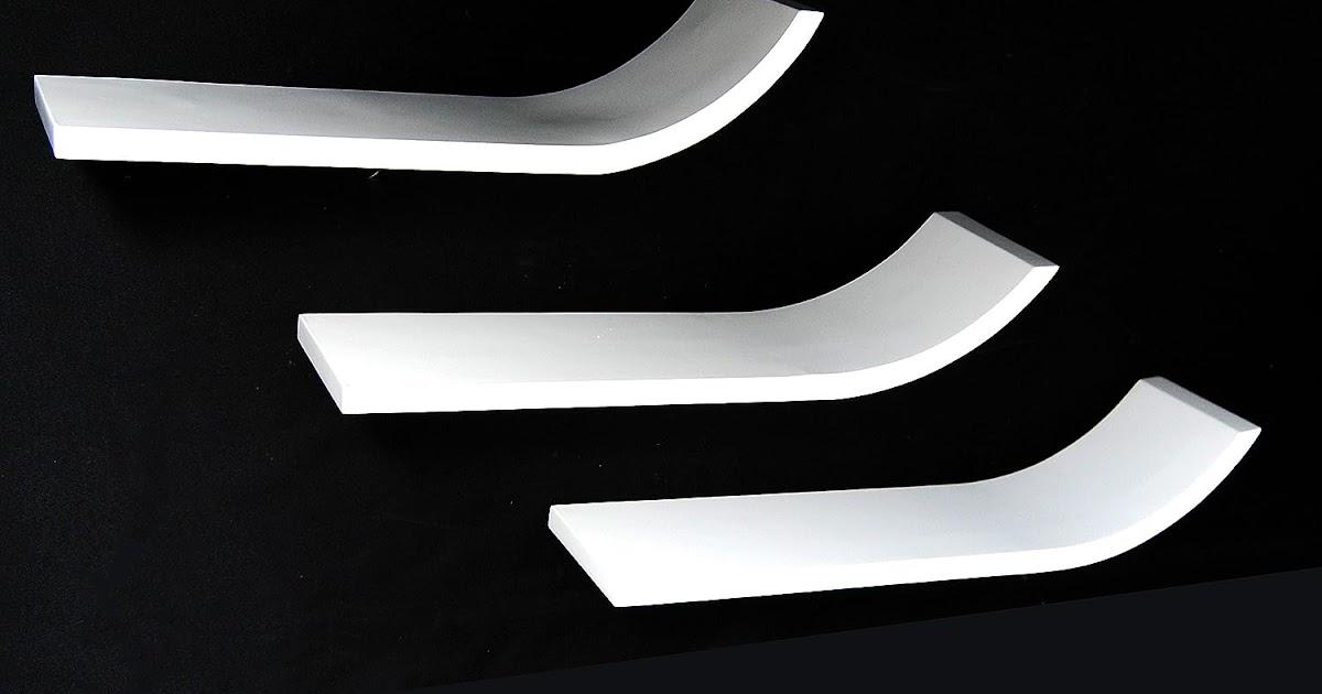 3er set design trend regal board l form wei als wandregal. Black Bedroom Furniture Sets. Home Design Ideas