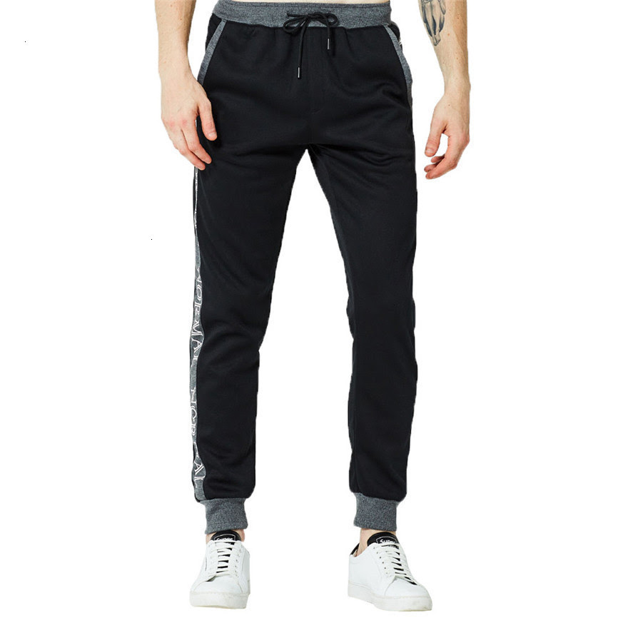 Mens Pants Fashion Pure Color Trousers Pants Casual Holes Pants Men Fitness Cotton Pants Fashions Men Sweatpants Hot Sale
