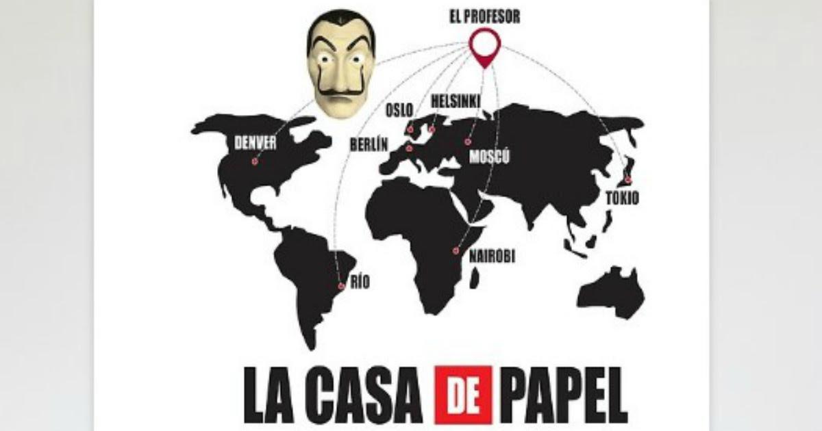 Un Poster Carte Du Monde La Casa De Papel