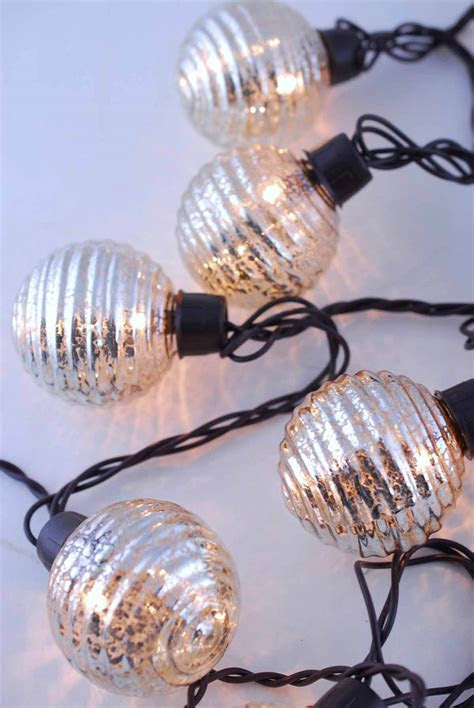 Globe Lights Mercury Glass String Light End to End 6ft
