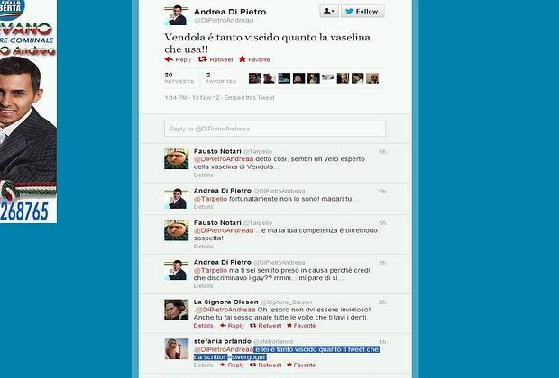 Il tweet di Andrea Di Pietro