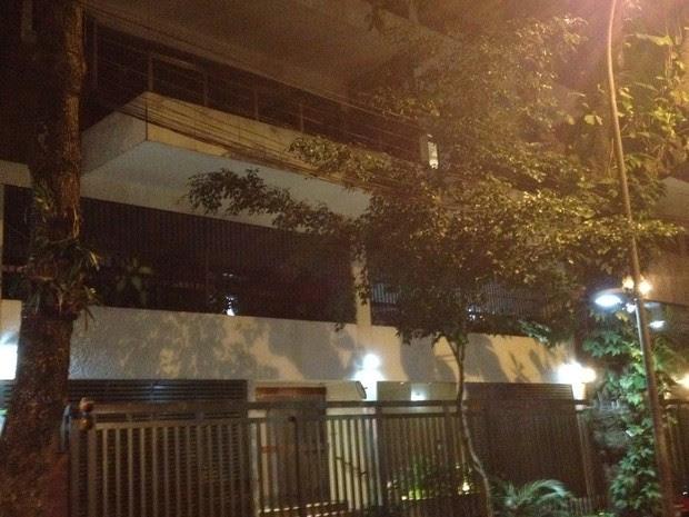 Edifício assaltado em Ipanema, na Zona Sul do Rio. (Foto: Gabriel Barreira/G1)