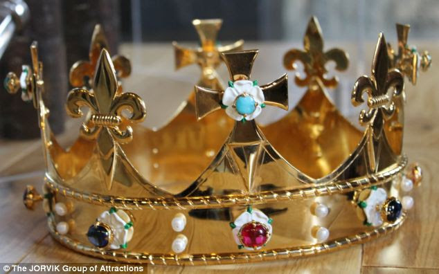 Richard III's funeral crown (pictured) was commissioned by a leading historian who was involved in the archaeological dig that discovered Richard III¿s remains beneath a car park in Leicester