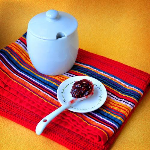 Raspberry Fig and Port Jam Jar
