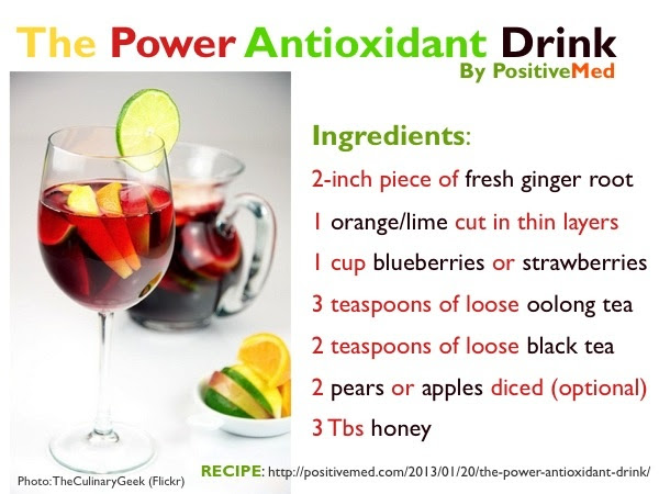 Good Health With an Antioxidant Drink