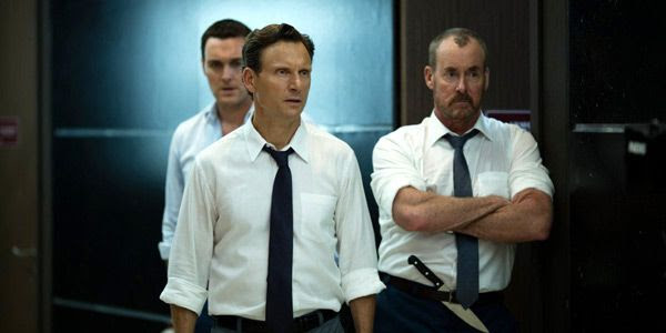 Barry Norris (Tony Goldwyn), Wendell Dukes (John C. McGinley) and Terry Winter (Owain Yeoman) will do anything it takes to get out of that office building alive in THE BELKO EXPERIMENT.