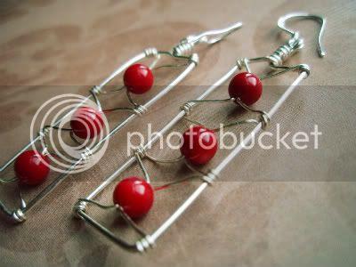 Floating Cherries Earrings by Ocean Pearl Jewellery