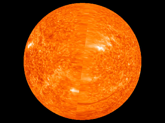 First complete image of the solar far side of the sun.