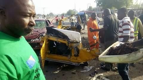 God of mercy!!! Graphic Photos from scene of yesterday's bomb blast in Maiduguri Borno state.